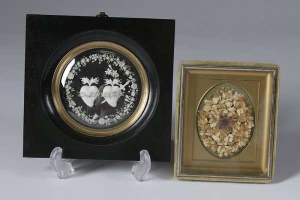 1215: Late 19th C. Ivory And Valentine Plaque