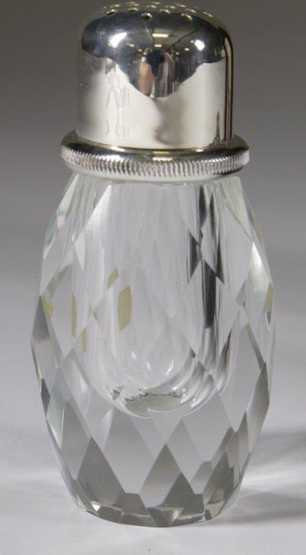 1432: Vintage Post House Crystal Salt & Pepper Shaker - 2