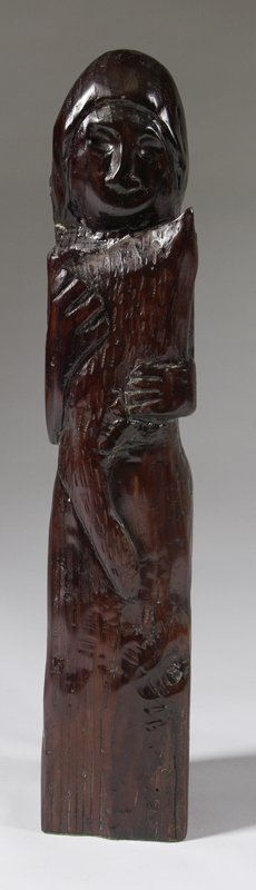 1513: Maria E. Marcotte (20th C.) Carved Wood Sculpture