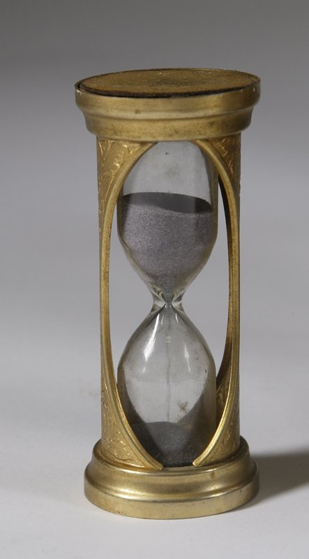 1515: Miniature Italian Gilt Metal Hourglass Early 20th