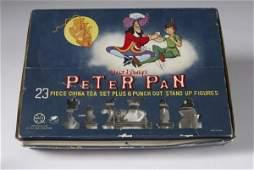 1771: Rare Peter Pan Marx Toys Walt Disney 23 Pc. T.Set