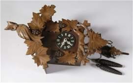 1809: Vintage West German Black Forest Cuckoo Clock