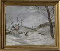 1870: Artist Unknown, 19th C., American School, O/C
