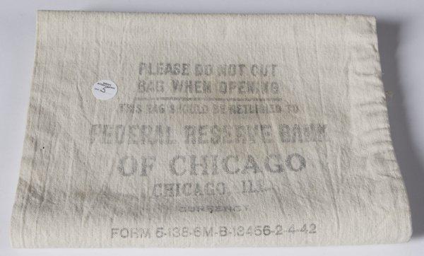 9: Original Federal Reserve of Chicago Bank Bag