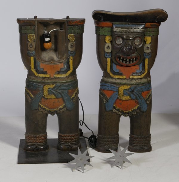 14: Pair of 1920s Fox Theatre Cast Iron Seat Ends