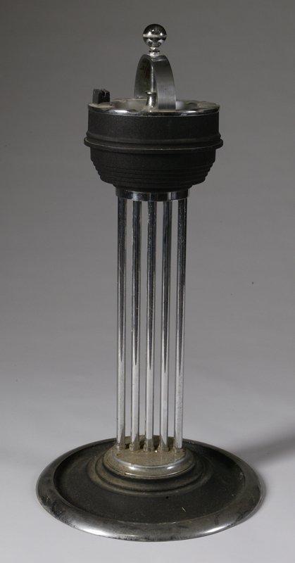 16: C/1930s Art Deco Floor Model Ashtray Stand