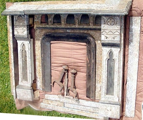 18: E.19th C. American Marble & Iron Fireplace Surd.