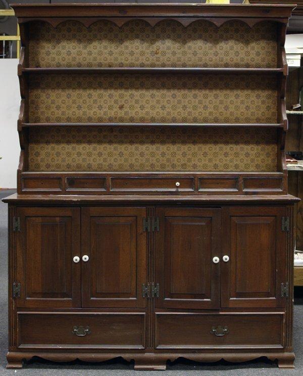 21: Welsh Style Walnut Hutch Cabinet