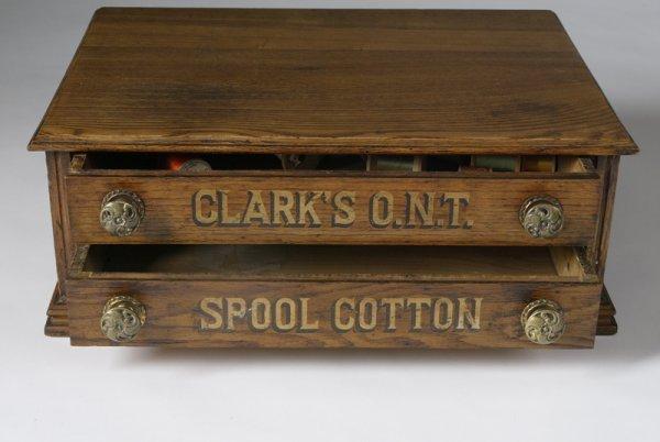 "22: Victorian Oak C. ""Clark's"" Spool Cabinet"