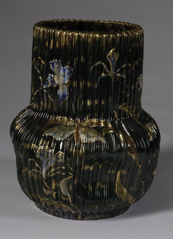 87: Early 20th C. Emile Galle Pottery Vase