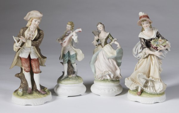 229: Collection Of 4 Lefton China Bisque Figurines