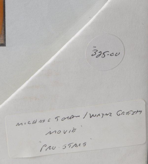 289: Hand Painted Cel Michael Jordan/Wayne Gretzky - 3