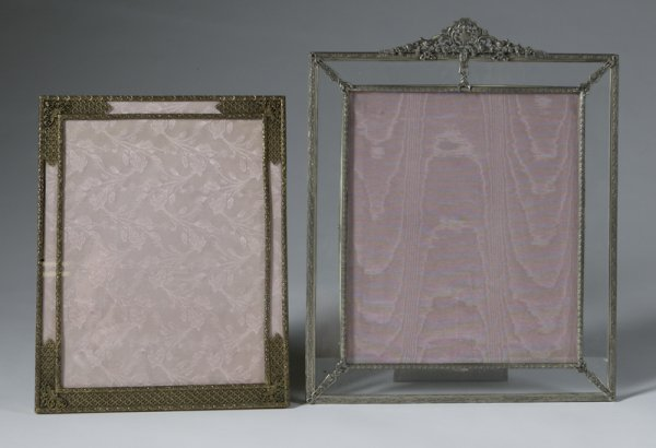 364: 2 Early 1920s Ornate Piano Top Picture Frames