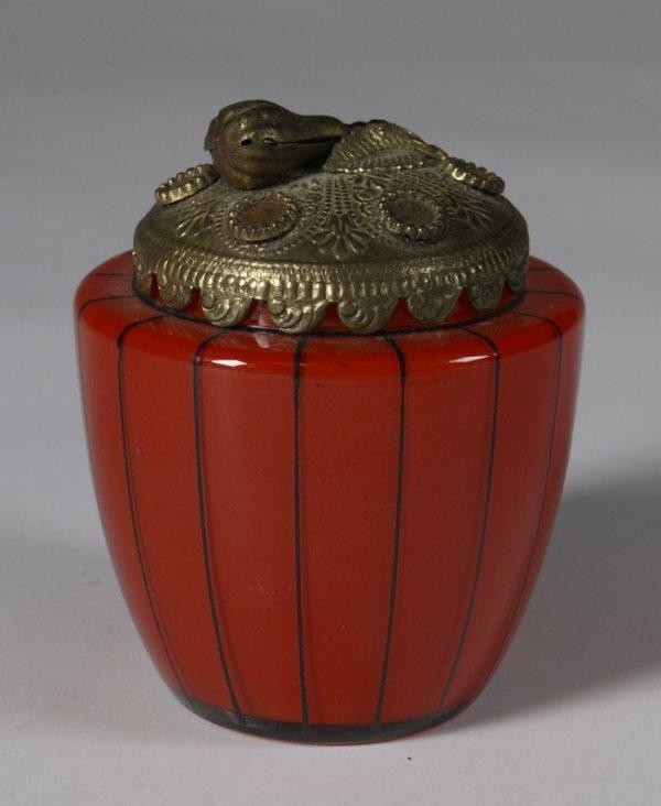 568: C/1910 Czechoslovakian Ladies Vanity Jar