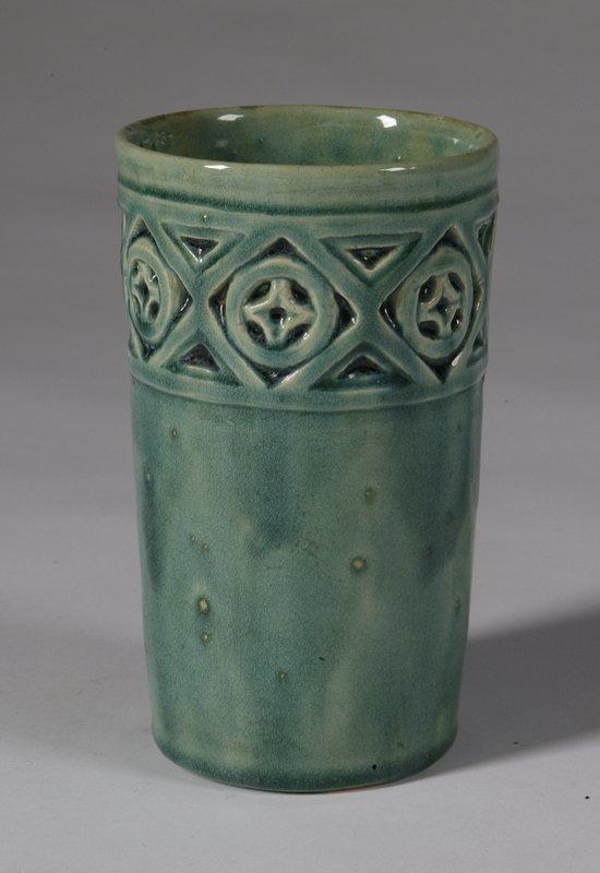 570: Early 20th C. Pewabic Style Studio Pottery Vase