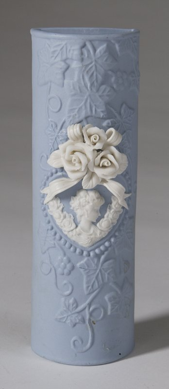 577: Wedgewood Style Bisque Wall Pocket