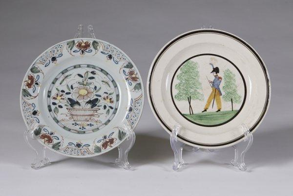 579: 2 Hand Painted Porcelain Plates