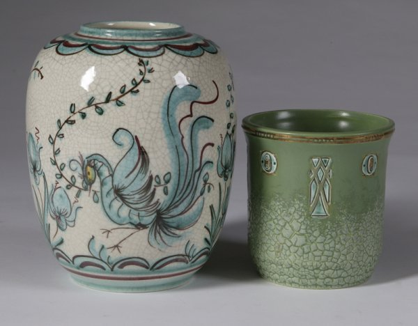 583: 2 German Pottery Vases
