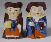 593: Collection Of 2 Miniature English Toby Mugs