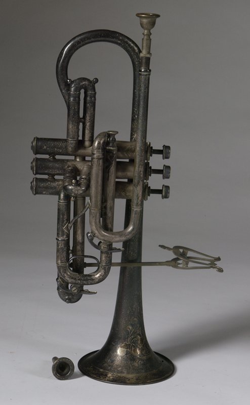 925: Perfec-Tone JW. York And Sons Silver P. Trumpet