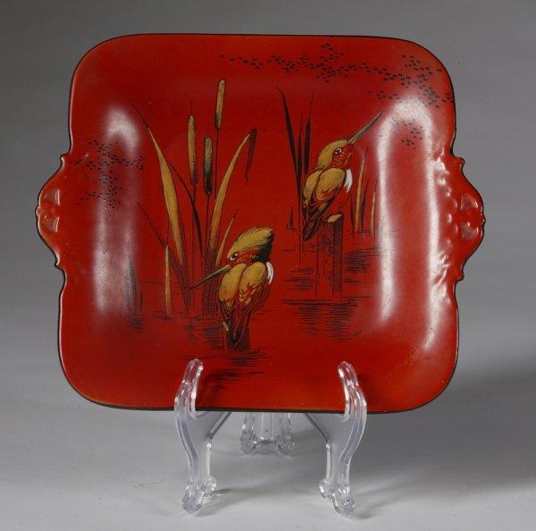 1070: C/1930s Signed Shelley Porcelain Serving Tray