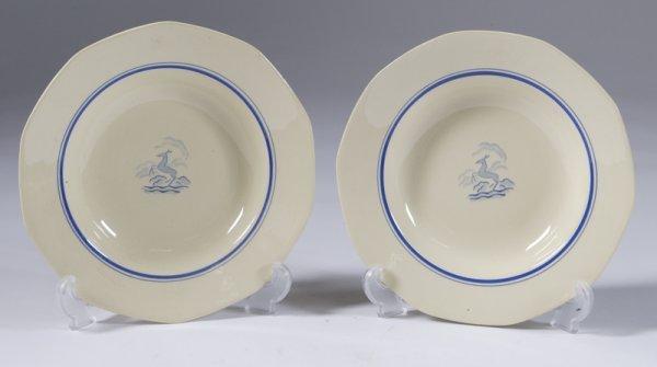 "4: 2 Boche ""Diane"" Made In Belgium Bowls"