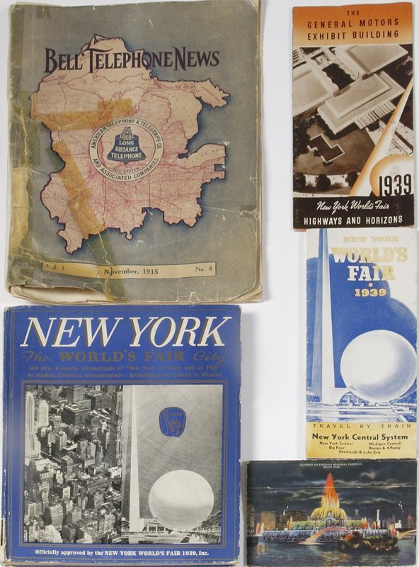 10: 4 World's Fair Collectors Items &1915 TP News