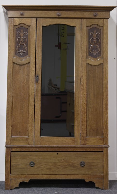 16: 20th C. English Oak Armoire
