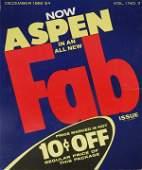 """102: Andy Warhol, Aspen Magazine """"Fab"""" Issue 1966"""
