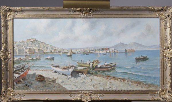 207: Giuseppe Salvati, O/C; Southern Italian Harbor