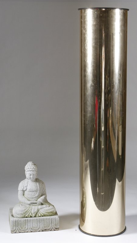 447: Quan Yin Garden Statue and Cylindrical Planter