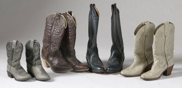 452: 4 Pairs of Vintage Cowboy Boots