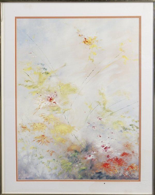 453: Framed Print of Wildflowers