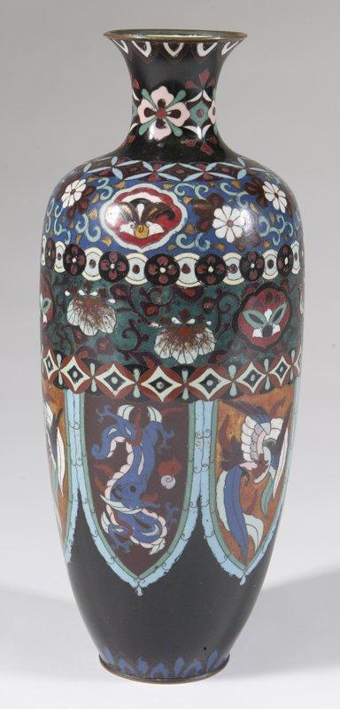 459: Exceptional 19th C. Japanese Cloisonne Vase