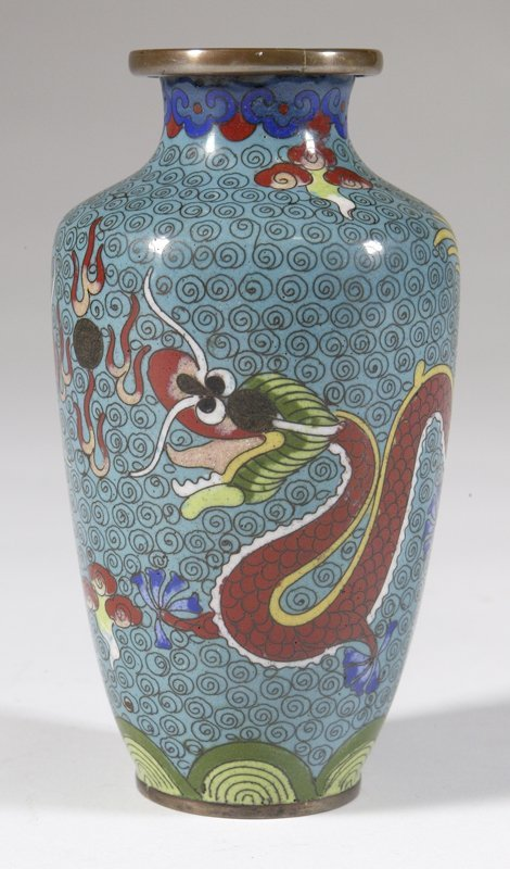 463: Chinese Cloisonne Vase