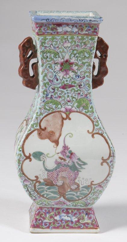 467: 19th C. Rose Medallion Vase