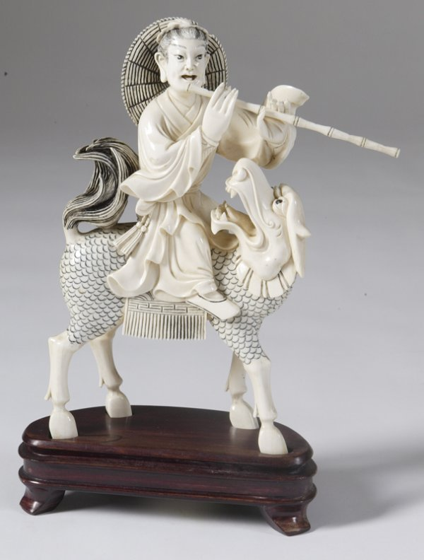 512: Ivory Flutist on Mystical Horse/Dragon