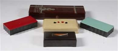626: 5 Piece Art Deco Box Collection