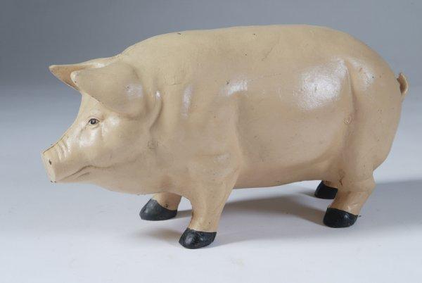 655: Large Cast Iron Pig Doorstop