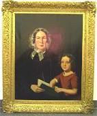 81: Early 19th C. O/C; Folk Art Portrait