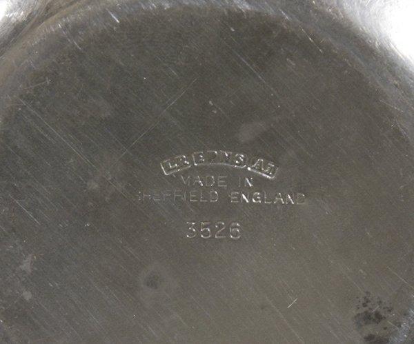 357: Sheffield Silverplated Apple Sugar Bowl & Spoon - 3