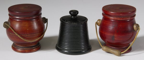 3: 3-19th C. Turned Wood Spice Containers
