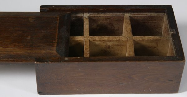 22: Early 19th C. Carved Wood Spice Box