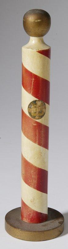 23: Miniature Spebsqsa Painted Barber's Pole
