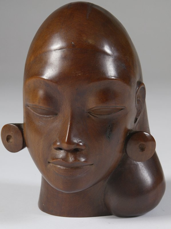 15: Kotagedang, Wooden Bust of a Woman