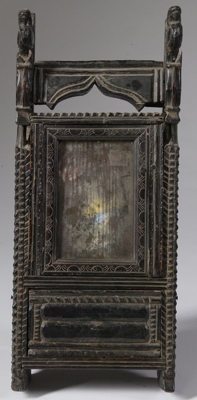 30: Early 19th C. Slave Made Comb Box on Stand