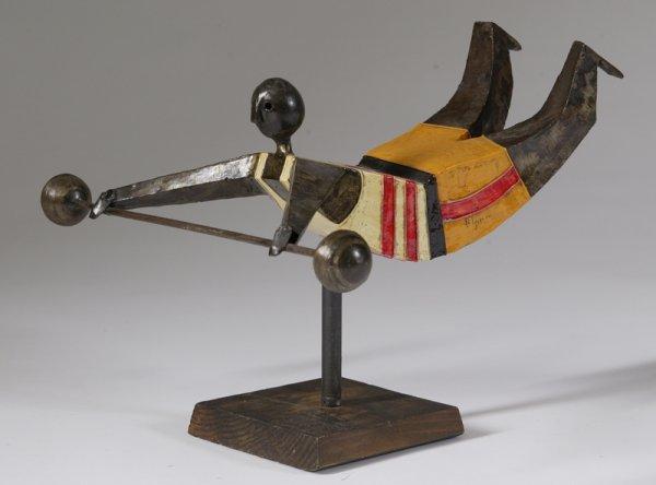 68: Manuel Felguerez, Painted Bronze, Weightlifter