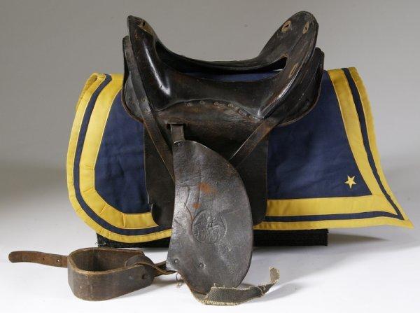 191: Vintage McClellan Marked U.S Leather Saddle