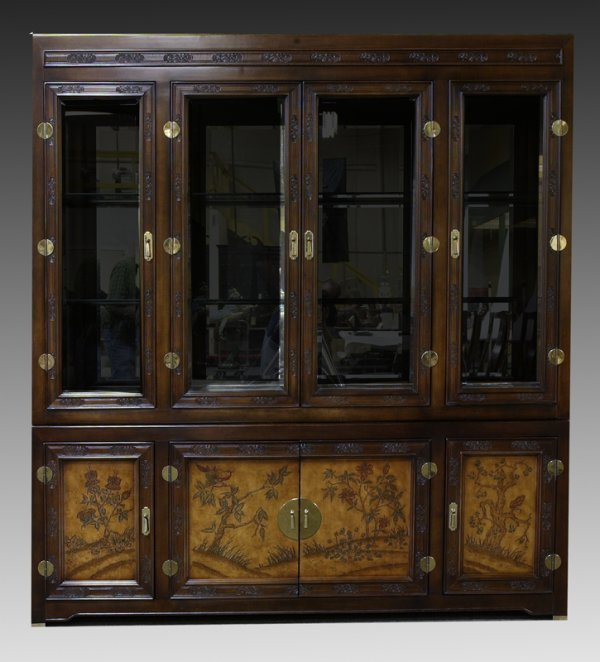 9: Chinese Chippendale Style Rosewood Breakfront