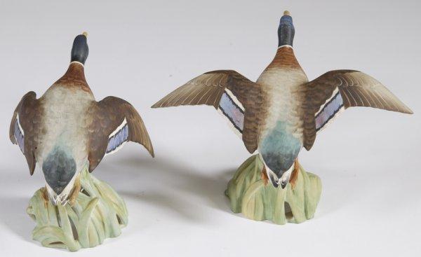 19: Pair of Vintage Spode Mallard Duck Figurines - 2